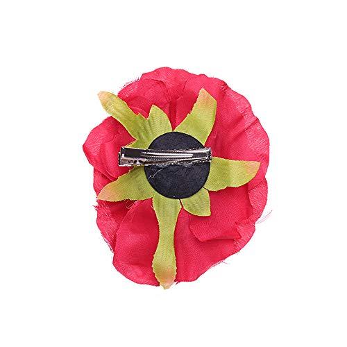 Neu Simulation Rose Kartenausgabe Haarspange Damen Stirnband, LEEDY Mädchen Haarband im Retro Style arty Geschenk Neuheit Kopfband Haarreif Stirnbänder Headband