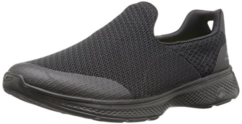 Skechers Go Walk 4, Baskets Basses Homme, Noir (Bbk), 46 EU