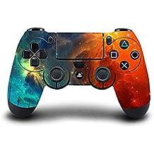 Morbuy PS4 Controller Skin Diseñador Piel Pegatina para Sony PlayStation 4 PS4 Slim PS4 Pro DualShock mando inalámbrico x 1 (Sky Orange-Blue)