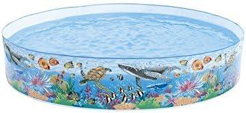 Maruti Enterprise PVC Swimming Pool 8 Feet (multiclolor)