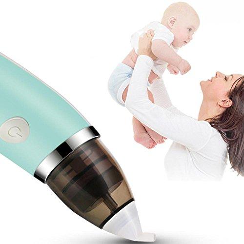 Waroomss Elektrischer Baby Nasensauger Safe Hygienischer Ruhiger Justierbarer USB Aufladungs Nasen Reiniger mit 2 Größen der Nasenspitzen und des Oralrot-Saugers für Neugeborene und Babys - 2