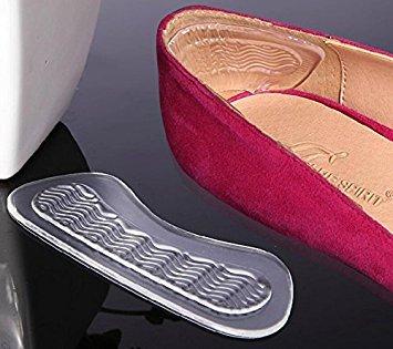 Ferse grips-3Paar Silikon Transparent Selbstklebend Soft Foot Care Displayschutzfolie Einlegesohle rutschsicher Ferse Schuhe Rückseite Schaumstoff Pads Paar (Rückseite Ferse Der)