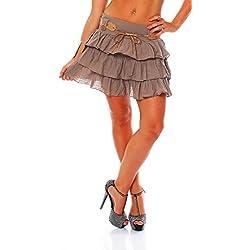 ZARMEXX dulces damas volantes falda del verano de la falda mini falda con la falda del volante de la correa de algodón