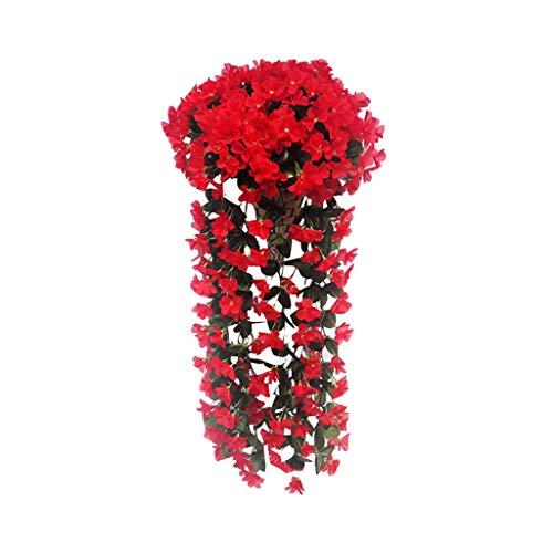SuperSU Kunstblumen ►▷ 2 Stück kunstblumen veilchen hgende Blumen/hgende kunstpflanzen/hgende kunstblumen/kunstpflanze hängend/800 mm/Party Dekoration/Hochzeit Dekoration (Halloween Tumblr Hintergrund)