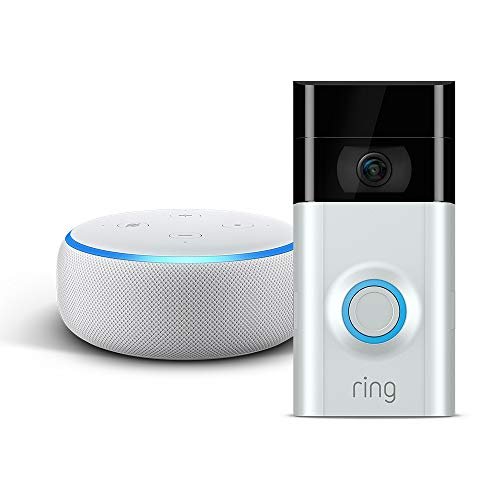 Echo Dot - Sandstein Stoff plus Ring Video Doorbell 2