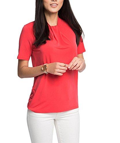 Esprit 036eo1k021 - Soft Viscose - T-shirt - Femme Rouge - Rot (CORAL 645)