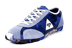 Provogue Mens Grey Blue Canvas Sneakers - 11 UK