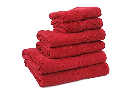 Supersoft 600gsm 100% Pure Egyptian Cotton Towel (Flannel(30x30cm), Red)