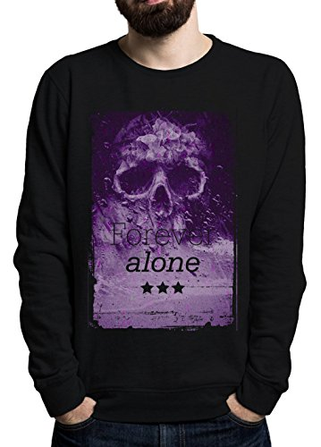 forever-alone-smoke-stars-crepy-skull-phrases-collection-cool-t-shirt-nice-to-wear-super-cotton-popu