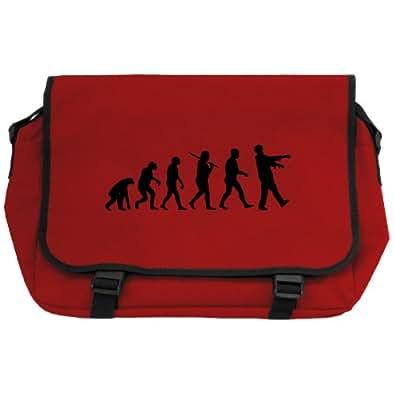Evolution of a Zombie Messenger Bag - Red