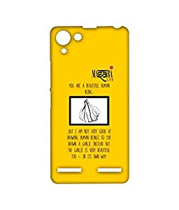 Licensed Masaba Lite Masaba Black Cone Premium Printed Back cover Case for Lenovo Vibe K5