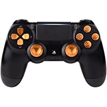 eXtremeRate® Joysticks analógicos Thumbstick Analog stick Thumbsticks & Bullet Botón & D-pad Replacements para mando inalambrico PlayStation 4 DualShock 4 PS4 Slim Pro ( Kits de Metal oro )