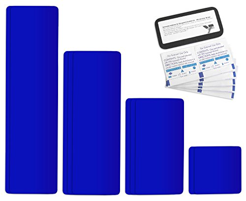 Tape selbstklebendes Planen Reparatur Pflaster Set Easy Patch comfort 100mm Breite - 10 Teile - königsblau RAL 543