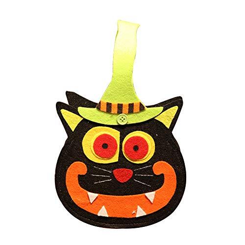 Katze Seltsame Kostüm - Joyfeel buy 1 Stück Weihnachts Tasche Kinder Seltsame schwarze Katze Geschenkbeutel Süßigkeitstasche Handtasche Eimer für Kostüm Party