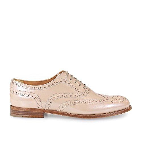 CHURCH'S BURWOOD 3 W LIGHT ROSA PATENT SCHNÜRSCHUHE Light Pink Patent Schuhe
