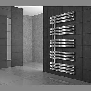 ECD Germany Iron EM Radiador toallero moderno – 500 x 1000 mm – Cromado – Calentador de toallas con calefacción Secador…