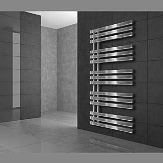 ECD Germany Iron EM Radiador toallero moderno – 500 x 1000 mm – Cromado – Calentador de toallas con calefacción Secador de toallas