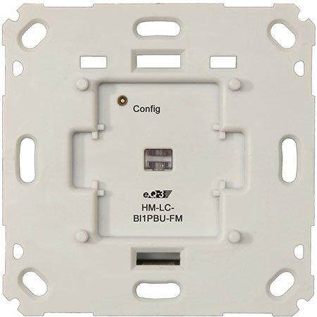 HomeMatic Funk-Rollladenaktor für Markenschalter, 1fach Unterputzmontage, Komplettbausatz für Smart Home / Hausautomation