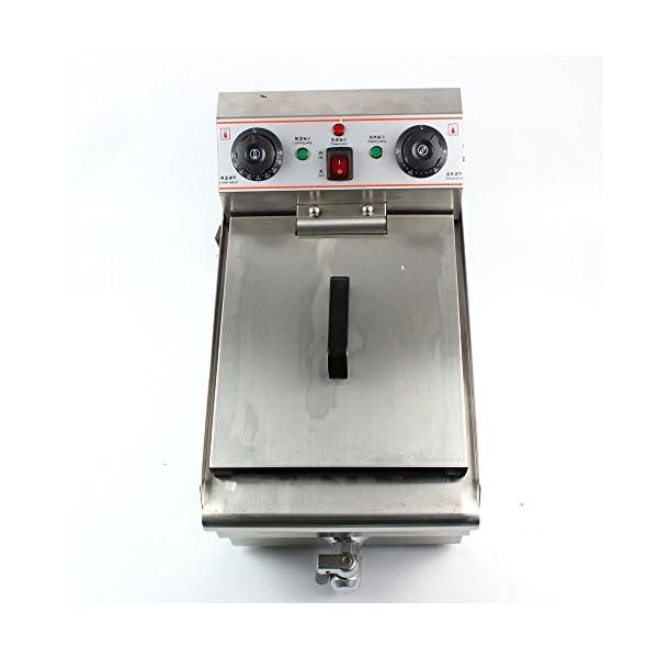 10 L Fritteuse Edelstahl Gastronomie Elektrisch Fritteuse Kaltzone 3000 W