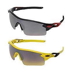 Zyaden Combo of 2 Sport Sunglasses - COMBO-2284