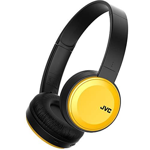 JVC HA-S30BT-Y-E Bluetooth On-Ear-Kopfhörer mit kompakter Bauweise, gelb -