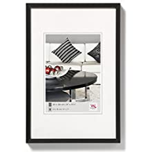Walther design AJ460B Chair, aluminum frame 15.75x23.50 inch (40x60 cm), black