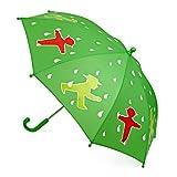 AMPELMANN Regenschirm für Kids - Schutzmännchen Geher/Steher/Tropfen grün/weiß