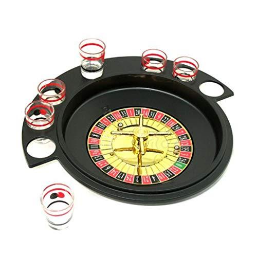 Roulette-Roulette-Trinkspiel mit 6 Schnapsgläsern für Bar, KTV, - Roulette Tisch Kostüm