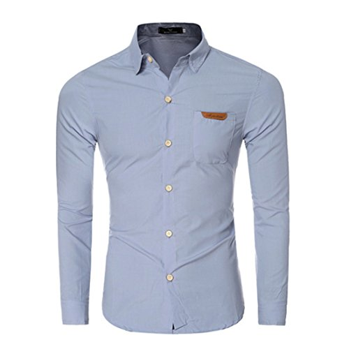 Men's Chemise Homme Long Sleeve Slim Fit Shirts gray