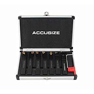 Accusize - 7 Pieces/Set, 5/8'' Shank Size, Indexable Carbide Turning Tools, 2387-2005