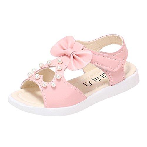 OYSOHE Kinder Sandalen, Baby Mädchen Bowknot Perle Kristall Sandalen Römischen Sandalen Prinzessin Schuhe (Baby Sandale High Heel)