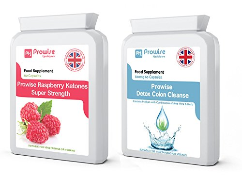 Cétones de framboise + Colon Cleanse Detox Diet Minceur - Qualité Premium - Métabolisme des graisses, gestion du poids