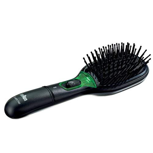 Braun BR730 - Cepillo de pelo con tecnología iónica, cepillo alisador de pelo con funda protectora, color negro