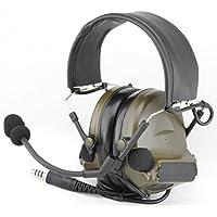 Auriculares de Diadema, de Tomtact, Modelo Airsoft Comtac II, con micrófono Boom,