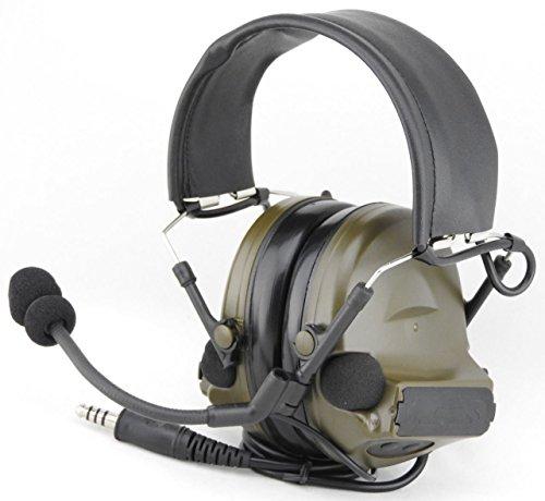 TOMTAC Airsoft Comtac II 2Headset mit Mikrofon, Boom-Radio, im Peltor-Design, Grün