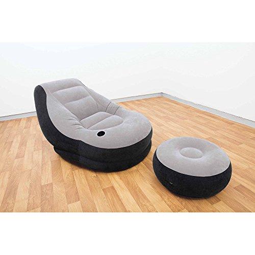 INTEX Aufblasbarer Sessel und Fußablage