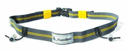 FuelBelt Ironman Reflektive Startnummernband Race Number Belt für Triathlon Marathon Laufen Radfahren | Nummerngurt | Start-Nummern-Gurt (Mango/Carbon)