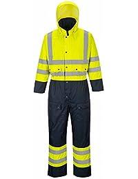 Hi Vis mono de esquí con forro con capucha General overol seguridad Workwear S–3x l S485