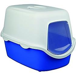 Bandeja Higién. Gato Vico, 40x40x56cm, Azul/Crema
