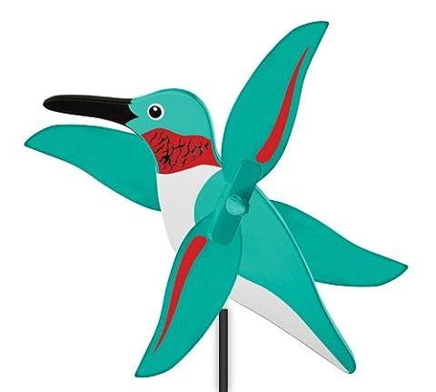 WindNSun WhirlyGig Outdoor Animated Decor, Humming Bird