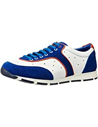 Fonti Men's Blue And White Formal Shoes