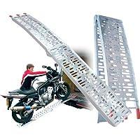 Rampa in alluminio, pieghevole, per moto