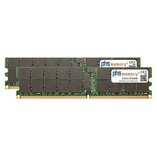 PHS-memory 4GB (2x2GB) Kit RAM Speicher für Lenovo System x3850 (8863) DDR2 RDIMM 400MHz PC2-3200R -