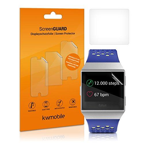kwmobile 2x Transparente Bildschirmschutzfolie für Fitbit Ionic - Schutzfolie für Fitness Tracker Bildschirmschutz