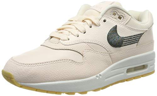 Nike Damen WMNS Air Max 1 PRM Laufschuhe, Mehrfarbig Guava Ice/Gum Yellow 800, 37.5 EU -