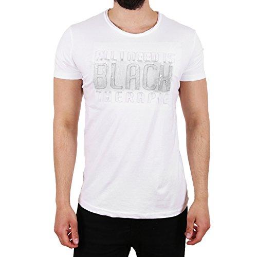 D & A Lifestyle Black Therapie T-Shirt Weiß Silber Weiß