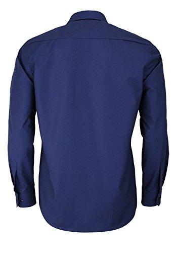 Eterna Long Sleeve Shirt Modern Fit Chambray Uni Blu marino