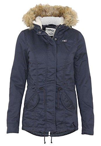ONLY Damen onlLORCA Short Canvas Parka CC OTW Jacke, Blau (Blue Graphite), 34 (Herstellergröße: XS)