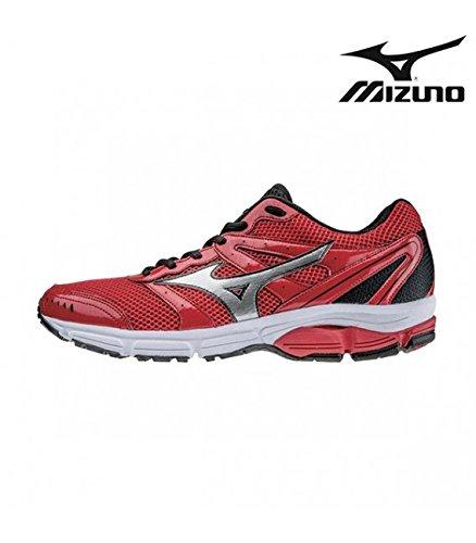 Mizuno Scarpa Running Sneaker Uomo Wave Impetus 2 Rosso Nero 42