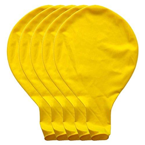 BZLine Großer riesiger Ovaler Großer Latex-Ballon, 5 Stück 36 Zoll 90cm Perle Latex Luftballons für Party Luftballons Spielzeug für Kinder Hochzeit Party Festival Dekoration (Gelb)